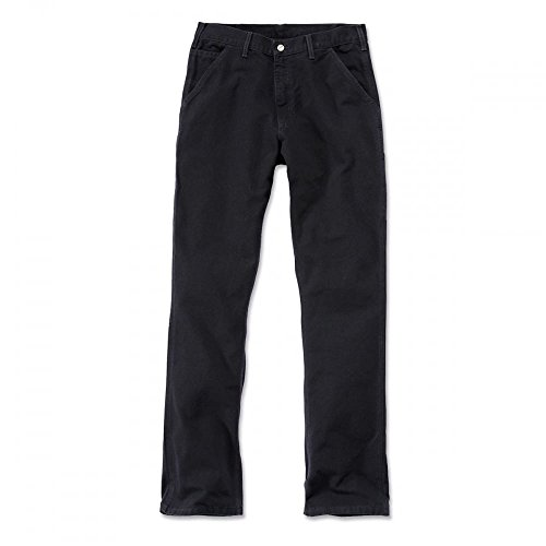 Ente Dungaree (Carhartt. EB011. BLK. S407 Washed Duck Work Dungaree, B33/L34, Schwarz)