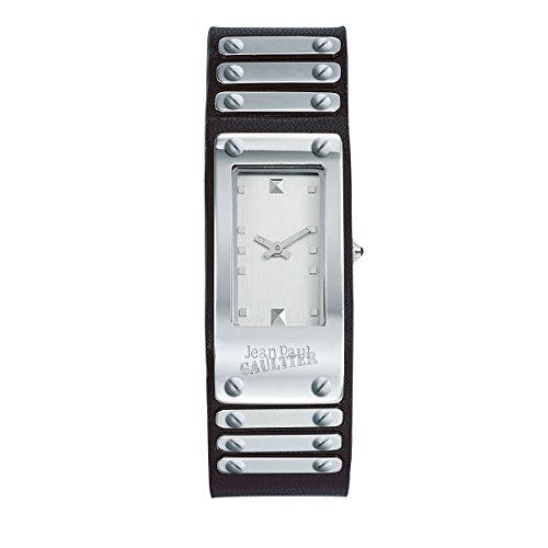 Orologio unisex–Jean Paul Gaultier–Factory–Acciaio–Bracciale Pelle Nero–40* 21mm–8503801