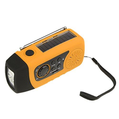 Sharplace Solar Handkurbel Mp3 Radio Stil Handy Ladegerät mit LED Lampe für Outdoor Sport - 2.7V bis 4.2V ( Farben Auswählen) - Orange (Solar Lampe Und Radio)