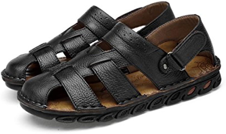LYZGF Hombres Juventud Verano Casual Baotou Sandalias Zapatillas Antideslizantes Respirables De Moda