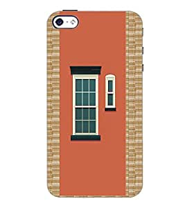 PrintDhaba Window Design D-3220 Back Case Cover for APPLE IPHONE 4 (Multi-Coloured)