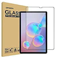 1 Pack Compatible for Samsung Galaxy Tab S6 10.5inch Tempered Glass Screen Protector, 9 Hardness HD Anti-Scratch Full-Coverage (2.5D Arc Edges)