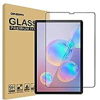 عبوة واحدة متوافقة مع واقي شاشة سامسونج جالاكسي تاب S6 مقاس 10.5 بوصة من الزجاج المقسى مقاس 10.5 بوصة ، 9 صلابة عالية HD - تغطية كاملة مضادة للخدش (2.5D حواف قوسة)