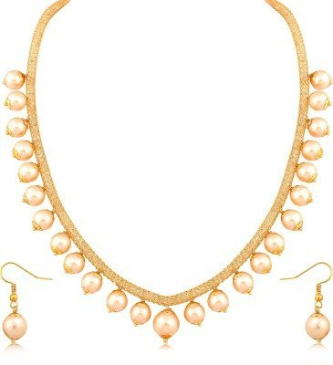 YouBella Jewellery Pearl Necklace Set Jewellery Set with Earrings for Girls and Women