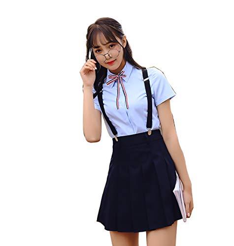 HugAzure Japanischen Anime Kleidung Klassische Navy Sommer kurz Mädchen Schüler Schuluniformen Kostüm JK Cosplay-06XXL