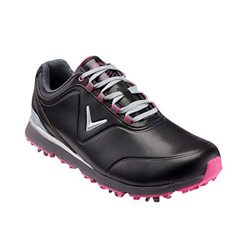 Callaway Damen Lady Mulligan Waterproofs Golfschuhe, Schwarz Black/Pink, 41 EU