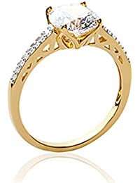 ISADY - Kimberly Gold - Women's Ring - 750/000 (18 Carat) Gold - Cubic Zirconia