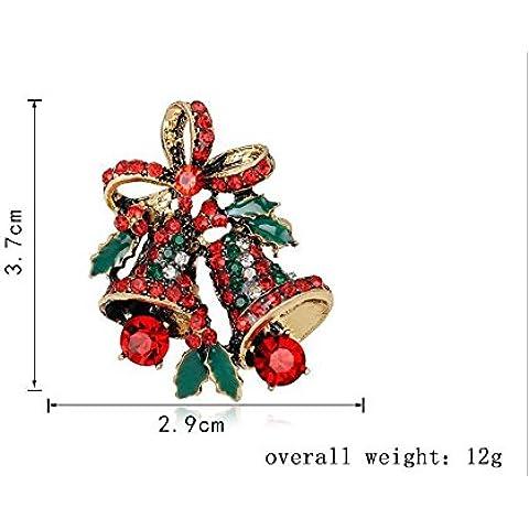 Natale Spilla Albero di Natale PinNeedle Serie di Natale Stivali pupazzo di neve Sleigh Bells Penguin corpetto ago 6 Pz ,