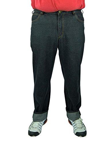 Herren 5-Pocket Jeans 60, 62, 64, 66, 68, 70, XL, XXL, 3XL, 4XL, 5XL, 6XL, Große Größen, Übergröße, Big Size, Plus Size (62, Schwarz)