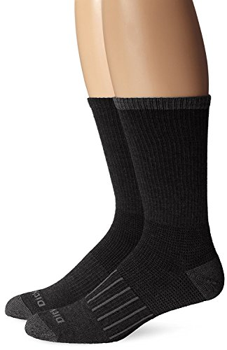 Dickies Men's 2 Pack Work To Casual Stripe Assortment Crew Socks, Black, 10-13 Sock/6-12 Shoe (2 Pack Work Socks)