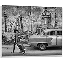 """Imagen en vidrio: Andreas Bauer """"Mi Habana"""", mural de alta calidad, magnífica impresión de arte sobre auténtico vidrio, 100x70 cm"""
