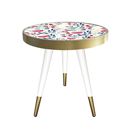 Table d'appoint Table Basse Table de Chevet Coffee Table Table Motif Design Ebru en Taille 55 cm x 45 cm