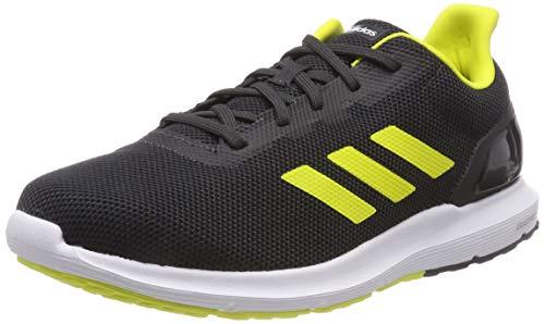 adidas Cosmic 2, Zapatillas de Entrenamiento para Hombre, Gris (Carbon/Shock Yellow/Core Black 0), 40 2/3 EU