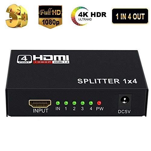 HDMI Splitter 4K Neefeaer 1x4 HDMI Duplicator