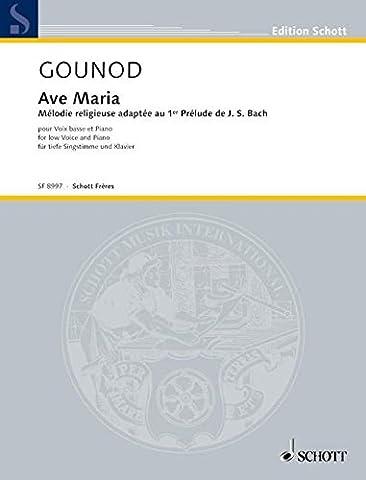 Ave Maria - Mélodie religieuse adaptée au 1er Prélude de J.S. Bach - voice and piano - SF 8997
