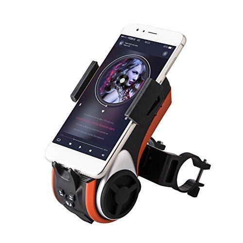 Bici Altoparlante Multifunzione - Lettore Audio per Bici Ciclismo Supporto per Telefono-Milool (Orange)