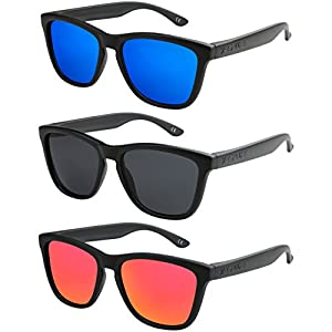 X-CRUZE® occhiali da sole nerd polarizzati stile retro vintage unisex uomo donna occhiali da nerd