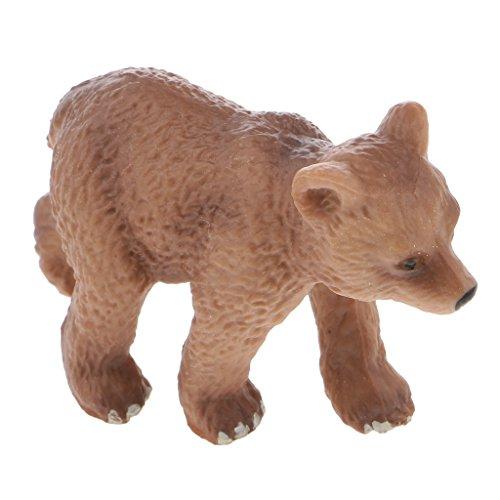 Sharplace   Realistische Tierfigur Modell - Tier Action Figur - Dekofigur Spielfigur - Spielzeug Geschenk für Kinder - Braunbär 01, 6 x 2 x 3,7 cm