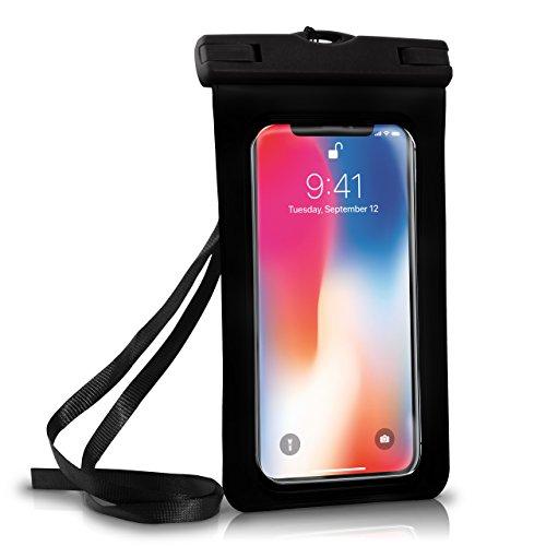 Wasserdichte Hülle iPhone Full Cover in Schwarz OneFlow 360° Unterwasser-Gehäuse Touch Schutzhülle Water-Proof Handy-Hülle für Apple iPhone X 8 7 7Plus/8Plus 6S 6 Plus 5 5S Case Handy-Schutz