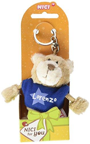 NICI n15881-Llavero Oso con Camiseta Lorenzo, Azul