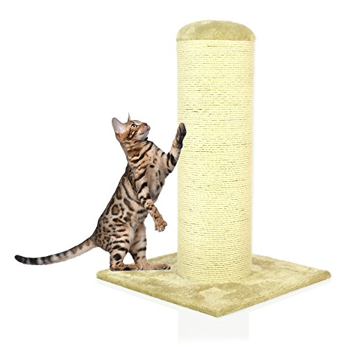 Cozy Pet Deluxe Fat Boy Super Large Cat Scratching Post Scratcher Activity Centre with Heavy Duty Sisal in Beige XXL CT07.