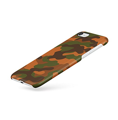 Grey Camouflage Camo Apple iPhone 7 Snap-On Hard Plastic Protective Shell Case Cover Custodia Orange Camo