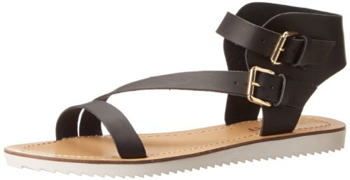 Report Rodeo Kunstleder Gladiator Sandale Black