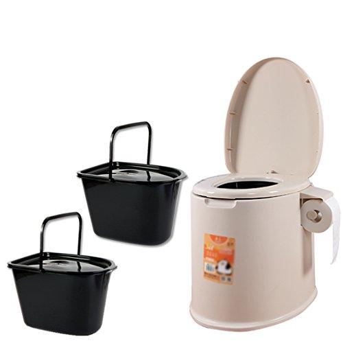 MyAou-commode Toilette Siège Portable Camp Toilette Toilette Portable Voyage Camping Randonnée Pique-Nique Festival en Plein Air (Couleur : Marron)