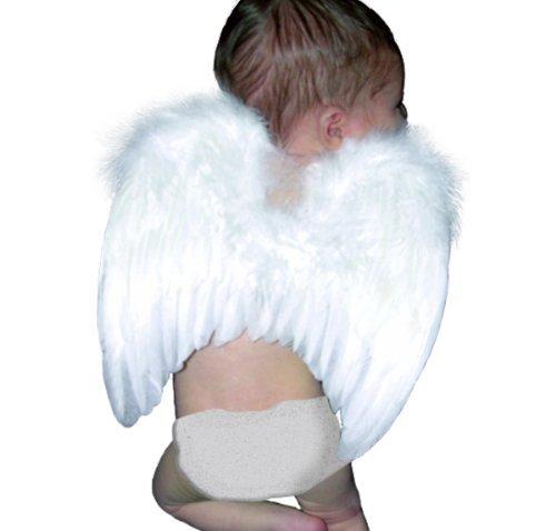 (FashionWings (TM weiße Feder Engelsflügel und Halo für 6-18 Mo Babies & Bonus Posterrahmen)
