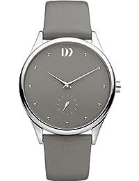 Danish Design Damen-Armbanduhr Analog Leder Grau DZ120511