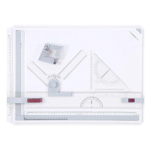 Multifuncional A3 Tablero Mesa Almohadilla de Dibujo con Movimiento Paralelo y Reglas de Ángulo Ajustable