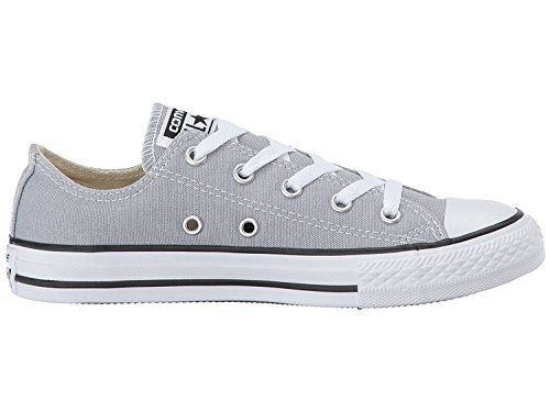 Converse Kids Chuck Taylor All Star Low Top Fashion Shoe, Wolf Grey Size 1.5Y Wolf Grey