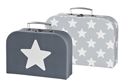 Preisvergleich Produktbild Kids Concept- Kinder Kofferset STAR 2er-Set - Sternenprint , Grau