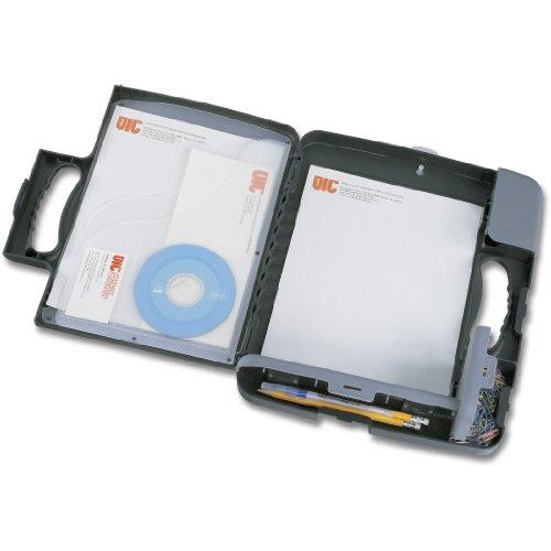 OIC 83320 - Custodia rigida porta-appunti, professionale, a 3 compartimenti, formato A4