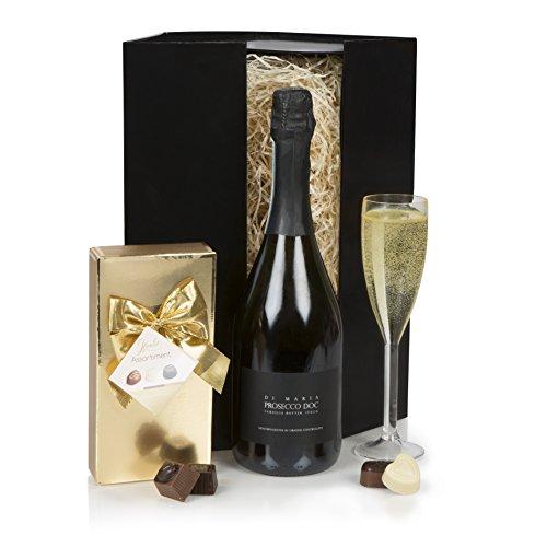 Juego de regalo de Prosecco & Chocolates - La cesta de regalo de lujo perfecta - Navidad, cumpleaños, felicitaciones, aniversario y regalo de agradecimiento