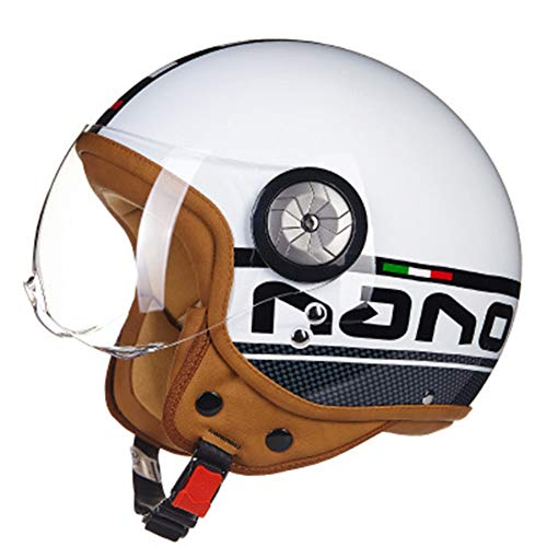 GLEI-TK Open-Face Helme Detachable Sonnenged-Linsen stärken Behandlung, Kratzerschutz, Blendschutz und UV-Schutz,XL