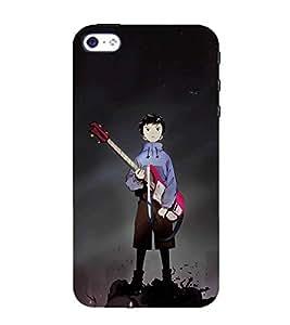 HiFi Designer Phone Back Case Cover Apple iPhone 4 ( Guitar Dude )