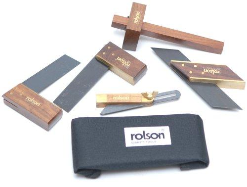Rolson Tools 56900 - Mini set lavorazione legno, 5 pezzi