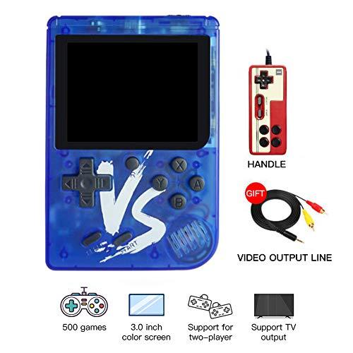 housesweet Retro FC Handheld-Spielekonsole 500 Classic Games TV-Videospiel-Player für Kinder Erwachsene (Erwachsenen-handheld-spiele)
