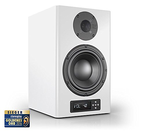 Nubert nuPro A-300 aktive Studio-Monitor/PC-Lautsprecher 2-Wege (2x100 / 2x125 Watt, Fernbedienung) weiß, Stück