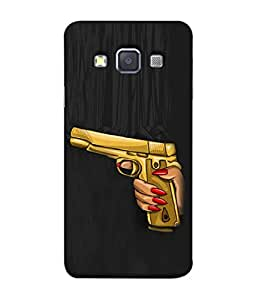 PrintVisa Designer Back Case Cover for Samsung Galaxy A5 (Beautiful hand with golden gun )