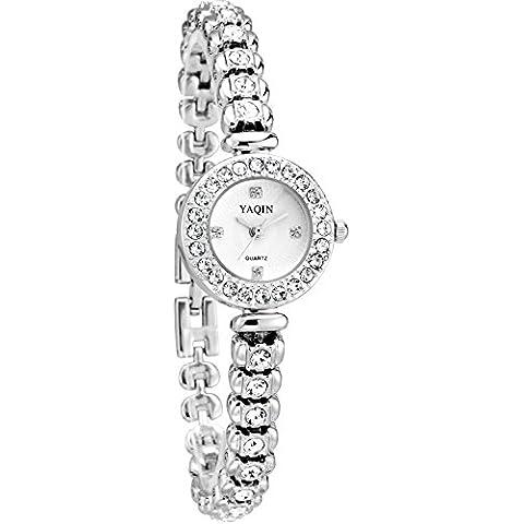 FLORAY Pulsera de moda para Mujeres , Hermoso Reloj de pulsera , Cristales