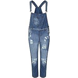Juicy Trendz Mujeres Mezclilla Jeans dungaree Señoras Jumpsuit playsuit Niña