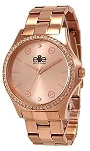 Elite Models' Fashion - E54344G-812 - Montre Femme - Quartz Analogique - Cadran Rose - Bracelet Acier Rose