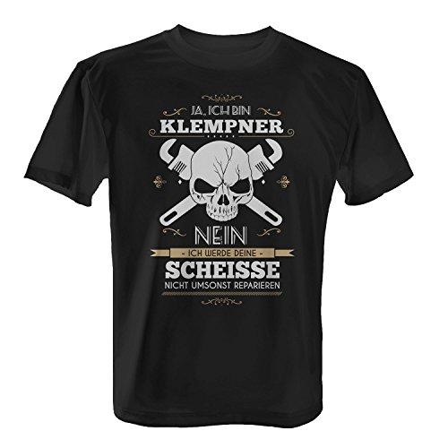 Fashionalarm Herren T-Shirt - Ja, ich bin Klempner Nein, ich werde deine Scheisse ... | Fun Shirt Spruch lustige Geschenk Idee Spengler Blechner, Farbe:schwarz;Größe:L