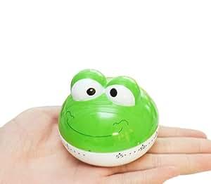 [Vert grenouille] 6,6cm en mouvement mécanique minuteur de cuisine/reminder-60minutes