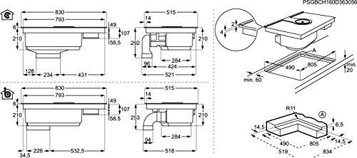 AEG ComboHob IDE84241I-B / Induktionskochfeld + Dunstabzug / Kochfeldabzug / Umluft & Hob²Hood / 83 cm breit - 2