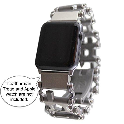 BestTechTool Kompatibel mit Leatherman-Edelstahl Adapter für Uhr mit Profilmuster Tread LT Apple-Uhr 40mm / 38mm
