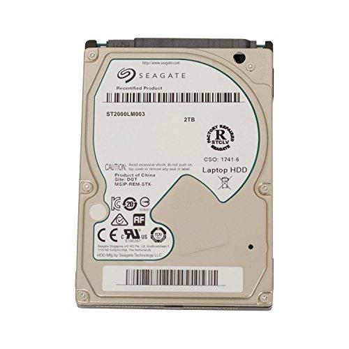 Seagate SpinPoint M8/M9T, SATA 2/3 interne Festplatte 2,5 Zoll, 5400RPM, 9,5mm - recertified, Kapazität:2.000GB (2TB), Baureihe:Spinpoint M9T