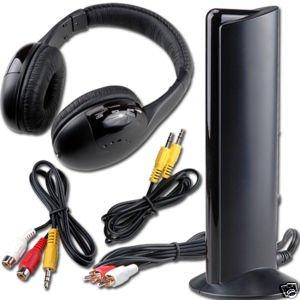 200450 CUFFIE WIRELESS HEADPHONE 5 IN 1 HI-FI FM RADIO SENZA FILI PC DVD TV MP3